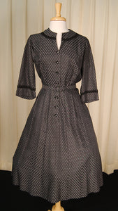 1950s Polka Dot Shirt Dress