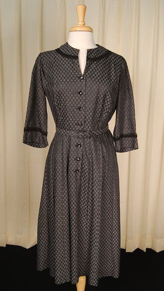 1950s Polka Dot Shirt Dress by Cats Like Us - Cats Like Us
