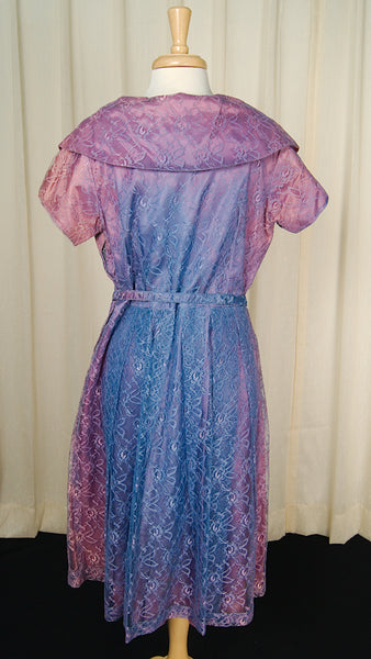 1950s Purple & Pink Lace Dress by Cats Like Us - Cats Like Us