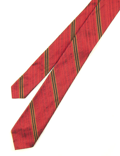 1950s Red Stripe Tie by Cats Like Us - Cats Like Us
