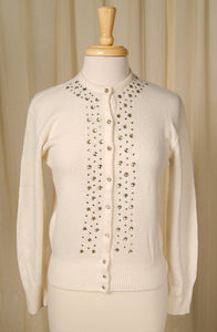 1950s Rhinestone Cardigan by Vintage Collection by Cats Like Us : Cats Like Us