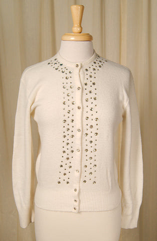 1950s Rhinestone Cardigan by Vintage Collection by Cats Like Us - Cats Like Us