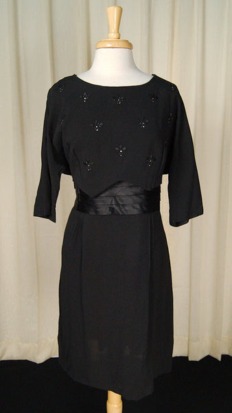 1950s Rhinestone Cocktail Dress
