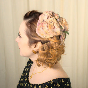 1950s Rose Flower Cap Hat