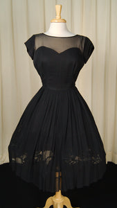 1950s Sheer Illusion Dress