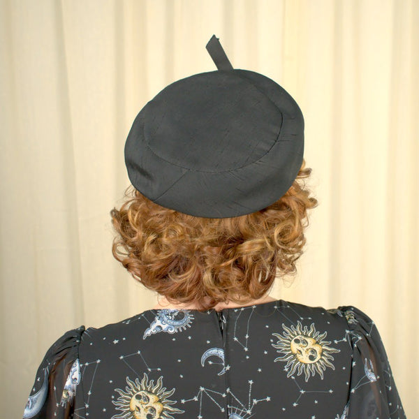 1950s Simple Black Beret Hat - Cats Like Us