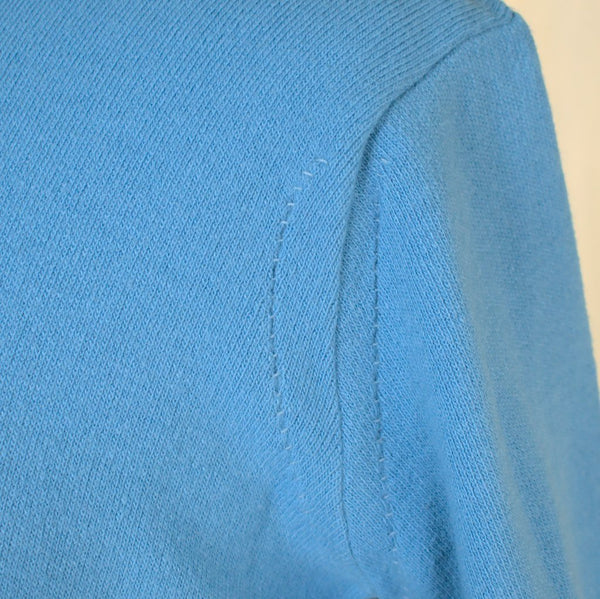 1950s Soft Blue Button Sweater - Cats Like Us