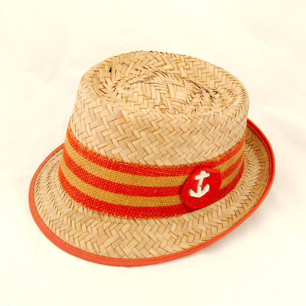 1950s Straw Anchor Hat by Cats Like Us - Cats Like Us