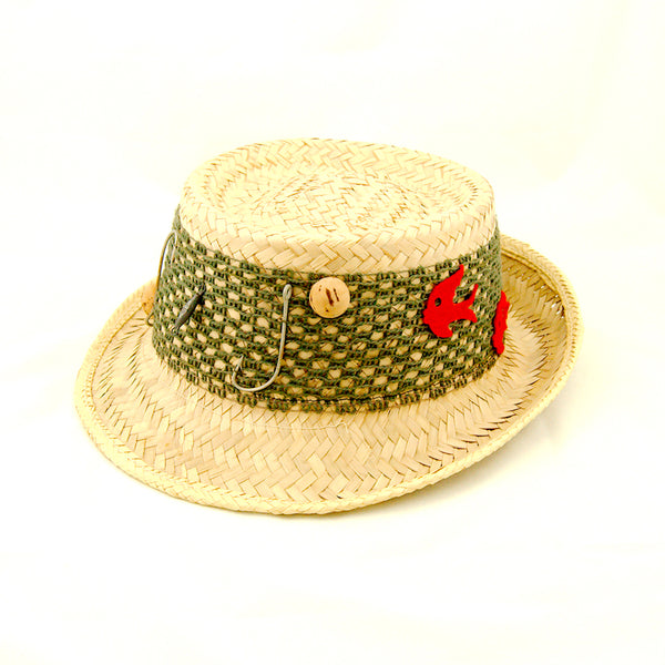 1950s Straw Fishing Novelty Hat by Cats Like Us : Cats Like Us