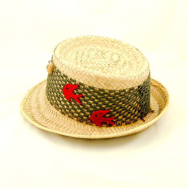1950s Straw Fishing Novelty Hat by Vintage Collection by Cats Like Us : Cats Like Us