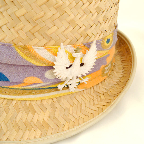 1950s Straw Polish Falcon Hat by Cats Like Us - Cats Like Us