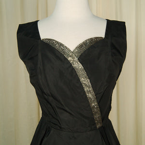 1950s Taffeta Stunner Dress by Vintage Collection by Cats Like Us - Cats Like Us