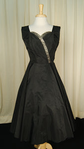 1950s Taffeta Stunner Dress - Cats Like Us