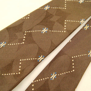 1950s Taupe Geometric Dot Tie by Vintage Collection by Cats Like Us - Cats Like Us
