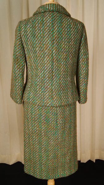 1950s Turq Boucle Skirt Suit by Vintage Collection by Cats Like Us : Cats Like Us