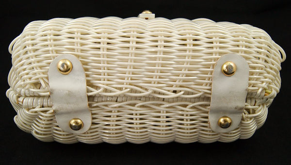 1950s Wicker & Lucite Handbag