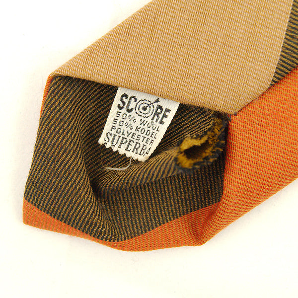 1950s Wool Brown Stripe Tie by Cats Like Us - Cats Like Us