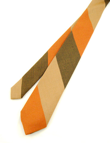 1950s Wool Brown Stripe Tie