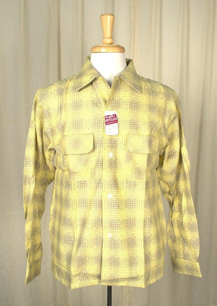 1950s Yellow Flannel Shirt - Cats Like Us