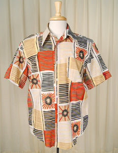 1960s Abstract Starburst Shirt