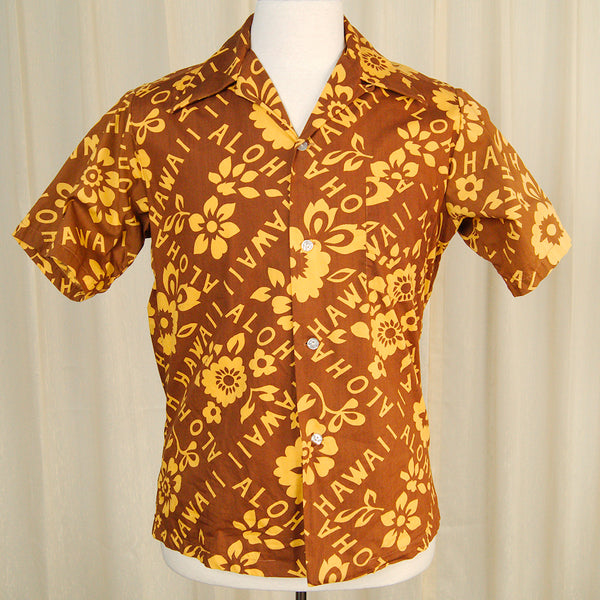 1960s Aloha Hawaii Shirt by Cats Like Us - Cats Like Us