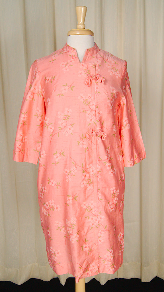 1960s Asian Lounge Robe Dress by Cats Like Us - Cats Like Us