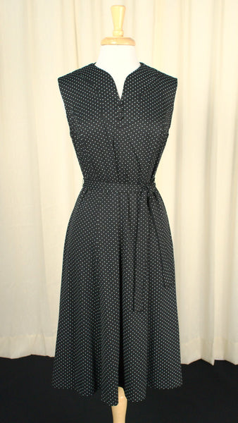 1960s B & W Polka Dot Vintage Dress Set