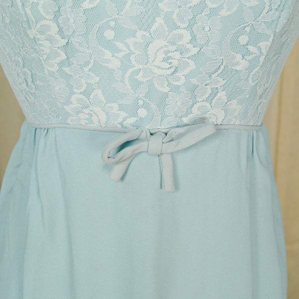 1960s Baby Blue Wiggle Dress by Cats Like Us : Cats Like Us
