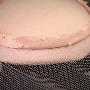 1960s Baby Pink & Pearl Hat - Cats Like Us
