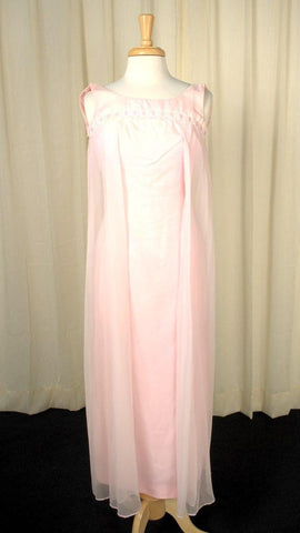 1960s Baby Pink Maxi Dress - Cats Like Us