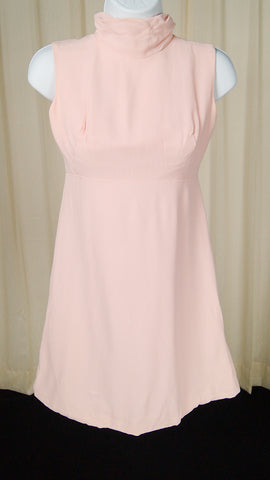 1960s Baby Pink Mini Dress by Cats Like Us - Cats Like Us