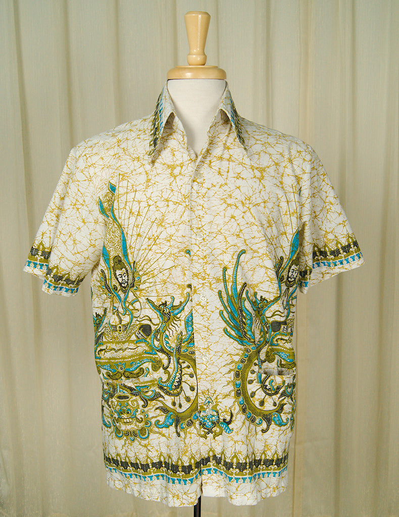 1960s Batek Peace Shirt by Vintage Collection by Cats Like Us - Cats Like Us
