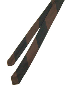 1960s Black & Brown Skinny Tie