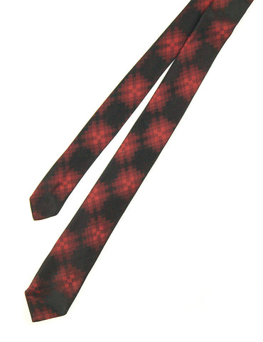 1960s Black & Red Pixel Tie by Cats Like Us - Cats Like Us