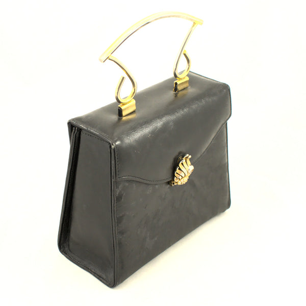 1960s Black Box Rhinestone Bag
