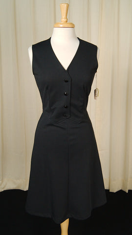1960s Black Jumper Dress by Cats Like Us - Cats Like Us