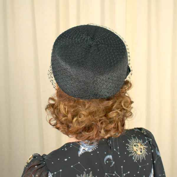 1960s Black Pillbox Hat - Cats Like Us