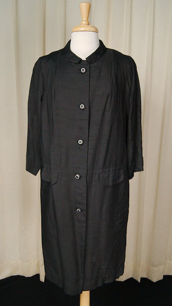 1960s Black Shift Dress w Coat - Cats Like Us