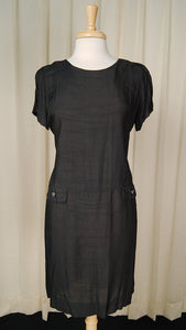 1960s Black Shift Dress w Coat