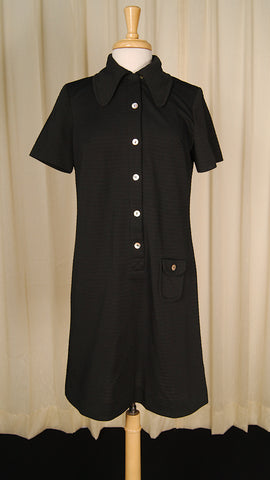 1960s Black Shirt Dress by Cats Like Us - Cats Like Us