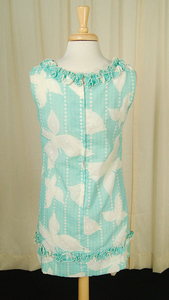 1960s Blue Dot Ruffle Mini by Cats Like Us : Cats Like Us