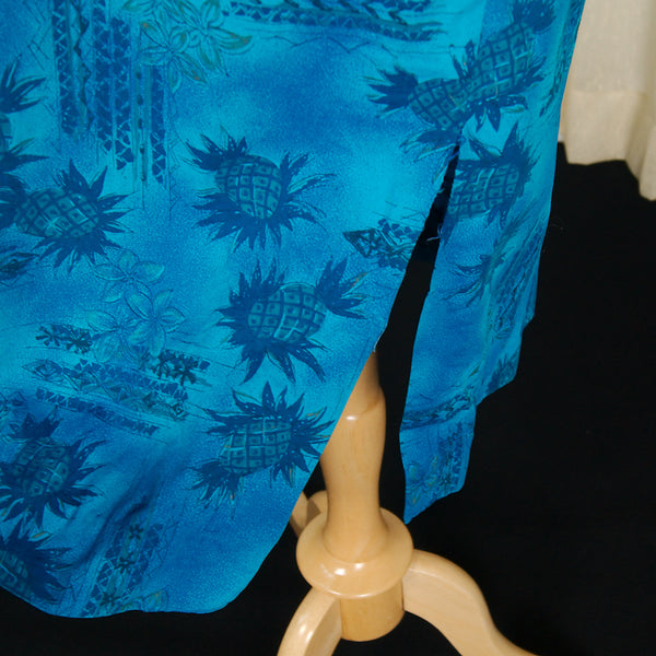 1960s Blue Pineapple Muu Muu