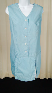 1960s Blue Pleated Romper by Cats Like Us - Cats Like Us