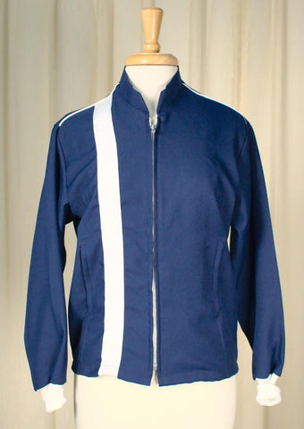1960s Blue Racing Jacket - Cats Like Us