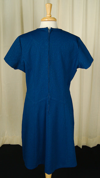 1960s Blue Scooter Dress by Vintage Collection by Cats Like Us - Cats Like Us