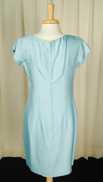 1960s Blue Shift w Coat Dress by Vintage Collection by Cats Like Us - Cats Like Us