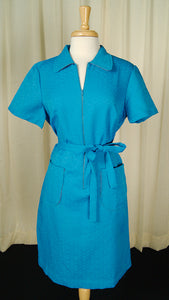 1960s Blue Smock Shirt Dress by Vintage Collection by Cats Like Us - Cats Like Us