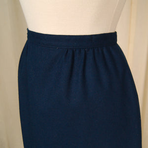 1960s Blue Wool Skirt by Vintage Collection by Cats Like Us - Cats Like Us
