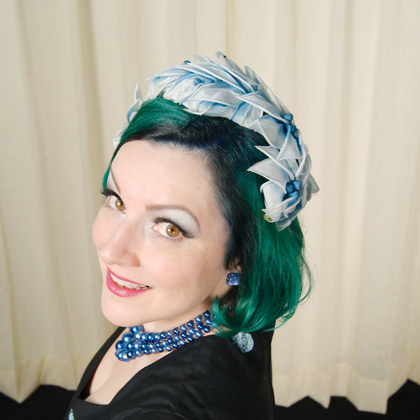 1960s Blueberry Crescent Hat by Cats Like Us - Cats Like Us