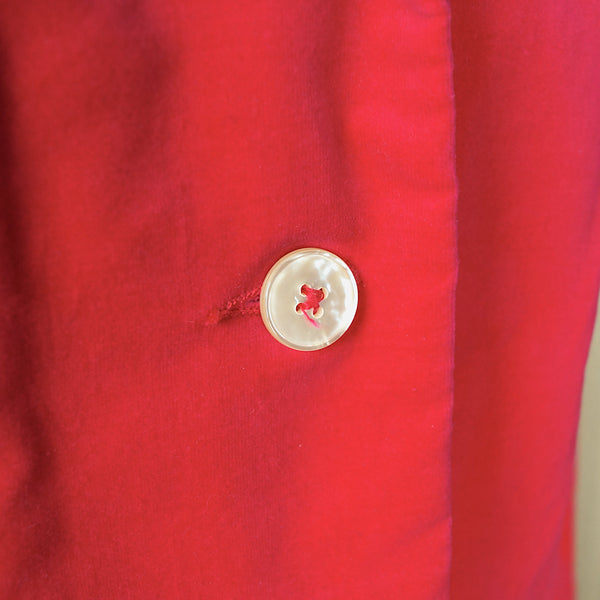 1960s Bright Pink Velvet Blazer by Cats Like Us - Cats Like Us